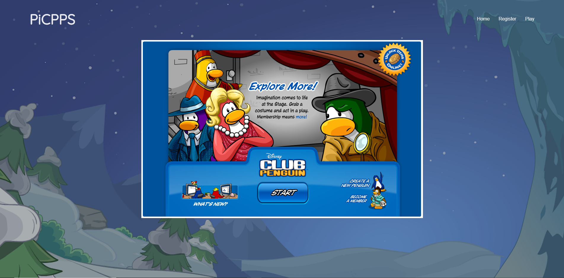 Main Club Penguin Page Ready